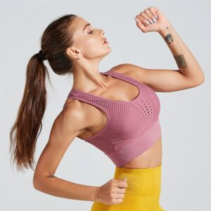 Bustiera Sport Push Up FITINT Cosmic Pink